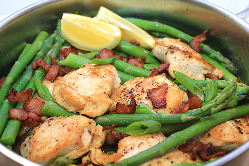 Chicken with Asparagus and Bacon