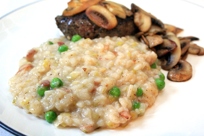 Bacon, Leek and Pea Risotto
