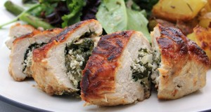 Spinach and Goat Cheese Stuffed Chicken